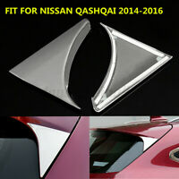2PCS Chrome Cover Trim Triangle For NISSAN QASHQAI 2014-2016 Rear Window  Best