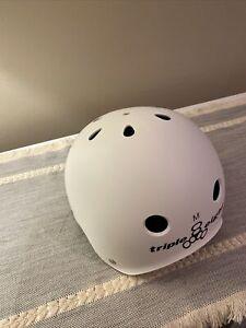 Triple 8 Helmet w/ Sweatsaver Liner - White Helmet/Black Liner