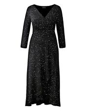 "Abito Donna Zara Glitter ""made in Britain"" da Grace-Nero-Taglia UK 12-RRP £ 57"