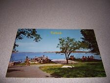 1962 BOAT DOCKS & PICNIC AREA TURLOCK LAKE CALIFORNIA CA. VTG POSTCARD
