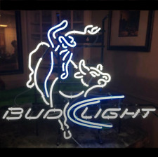 "New Bud Light Rodeo Bull Rider Beer Bar Neon Light Sign 24""x20"""