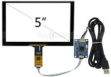 "5"" inch Capacitive Touch Screen Panel+USB Controller Board+Cable for Rasperry PI"