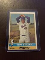 ⚾️1976 Topps Tom Seaver New York Mets #600 Baseball Card RIP 🔥🔥🔥 HOT🔥🔥🔥