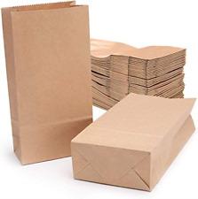 More details for brown kraft paper bag,vintage flat block bottom recycled storage bag gift bags