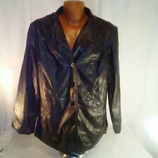 White Stag Womens Black Faux Leather Jacket 16W