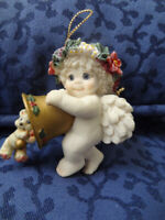 Dreamsicles  CHERUB   WITH  BELL Hanging Ornament