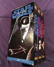 Vintage STAR WARS Trilogy VHS 3 Tape Set Original Remastered PRIORITY MAIL