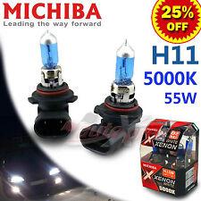 MICHIBA H11 12V 55W 5000K Diamond Xenon WHITE Light Bulbs for HOLDEN Low Beam