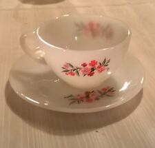 FIRE KING PRIMROSE PATTERN ANCHOR HOCKING VINTAGE 40'S 50'S   CUP AND SAUCER