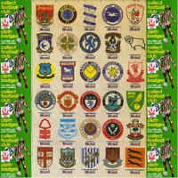 Mobil Oil 1983 Silk Material Football Club Crest Badges - Various Teams