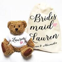 Wedding Teddy Bear Gift | Personalised | Bridesmaid Script