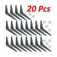 "Wideskall Metal Wall Corner Angle Shelving Shelf Brackets, Gray (20, 4"" x 5"" ..."