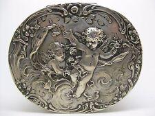 800 German Silver ~ HANAU CHERUB BOX ~ Repousse Putti by Storck & Sinsheimer