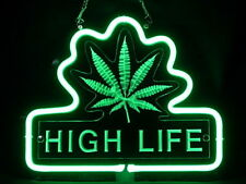 Marijuana High Life 3D Carved Neon Sign Bed Room Home Decor Beer Bar Light
