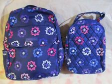 VERA BRADLEY Lighten Up Backpack Lunch Bunch Bag Set School ELLIE FLOWERS