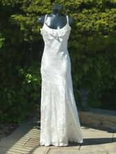 Monsoon Ivory White Spiral Maxi Dress 10 Wedding Ball PROM Party Cruise XMAS