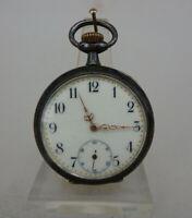 Herrentaschenuhr Philipp Dubois Kreuzspinnen Tula Silber um 1900 (68015)