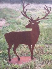 HIRSCH zurück blickend Rost Edelrost Metall Tier Rostfigur Gartendekoration