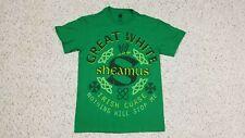 NEW Sheamus Great White Irish Curse WWE Wrestling Green T-Shirt Adult S WWF