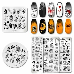PICT YOU Halloween Nail Stamping Plates Nail Art Stamp Template Stainless Steel