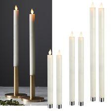 2er Set LED Stab-Kerzen mit TIMER bewegliche Flamme Echtwachs Tafelkerze Wachs