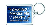 Novelty Gaming Birthday Keyring Gamer Gifts For PS4 Son Dad Brother Man Cave