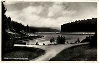 Forbach Schwarzwald AK 1937 Schwarzenbach Talsperre Stausee mit Landpoststempel