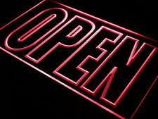 i097-r OPEN Shop Display Cafe Business Neon Light Sign
