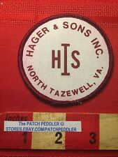 VTG HSI HIS HAGER & SONS INC NORTH TAZEWELL VIRGINIA PATCH EMBLEM C63E