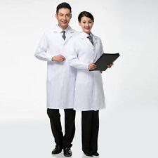 White Lab 2017 Coat Medical Unisex Doctor Coats Jackets Nursing Men Women Long ^