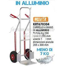 CARRELLO PORTAPACCHI ALLUMINIO PIUMA KG 200 RUOTE PNEOMATICHE MM 255