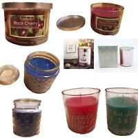 Scented Candle Jar Pillar Christmas Anniversary Gift Rose Cinnamon Berry Cherry