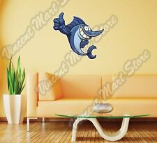 "Fishing Fish Thumb Up Bites Hook Funny Wall Sticker Room Interior Decor 22""X22"""