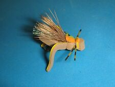 FLY FISHING FLIES - Tan/Yellow FOAM KICKER HOPPER size #12 (6 pcs.)