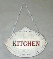 Placa de chapa Cocina Blanco Cocina CUISINE Placa Puerta Placa Vintage Shabby