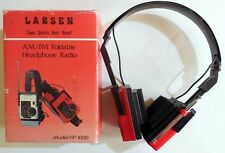 LARSEN AM/FM FOLDABLE HEADPHONE RADIO MODEL HP-1000 VINTAGE CUFFIE