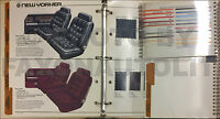 1985 Chrysler Color and Upholstery Dealer Album LeBaron Laser New Yorker 5th Ave