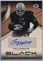 Paul Hornung Copper Parallel Auto /15 2019 Panini Black Football HOF Packers