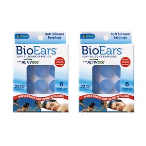 BioEars Soft Silicone Earplugs - 12 Pairs (2 x 6 Pairs)