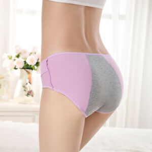 Bamboo Fiber Leakproof Waist Underwear Women Period Menstrual Panties High