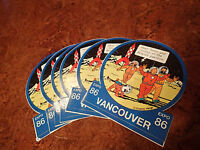 Collectable Vintage Expo 86 Vancouver Herge TinTin Bumper Sticker Snowy France