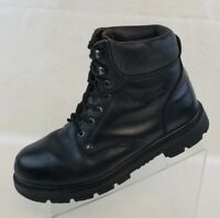 Carolina Ankle Boots Womens Worktough Safety Steel Toe Black Leather Lace Up 9M