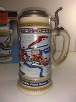 Anheuser Busch Budweiser 1988 Calgary Official Olympic Winter Games Beer Stein