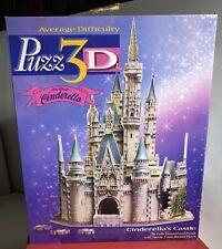"Walt Disney 'Cinderella's Castle' 530 Piece 3D Puzzle L-13.5""xH-17""xW-9.75"" USA"