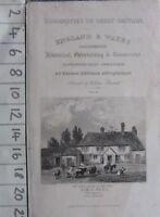 C1830 Antico Stampa Frontispiece Birth Place Sir R Peel Blackburn Lancashire