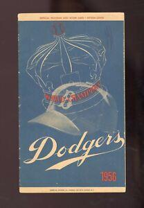 1956 Brooklyn Dodgers Game Program Chicago Cubs Ernie Banks SEE DESCRIPTION
