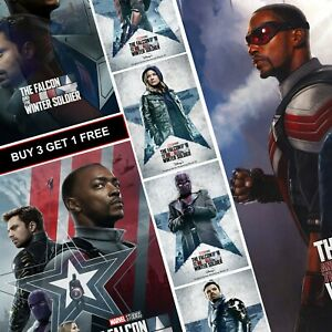 Falcon and Winter Soldier TV Movie Posters A4 A3 A5 Prints Art Marvel Disney MCU
