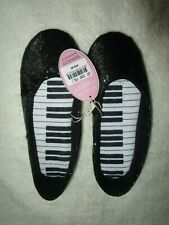 Ladies Peter Alexander Black Glitter Couture slippers   Size 6,7,8 & 9       NWT