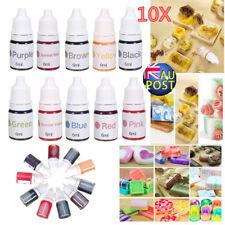 10 Colors Dyes Soap Making Coloring Set Liquid Kit Colorants for DIY Bath Bomb M