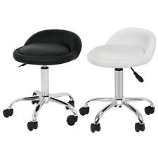 Adjustable Hydraulic Salon Stool Massage Facial Spa Rolling Chair w/Back Rest